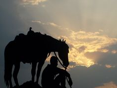Cowboy & His Mount at Sunset | Flickr - Photo Sharing!