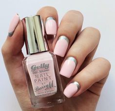 Nails barrym pink sliver gelly