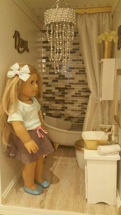 American girl doll bathroom DIY