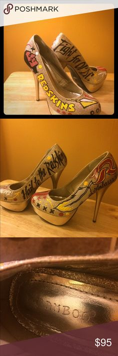 Selling this Sexy Redskins Cheerleader shoes on Poshmark! My username is: nadasue. #shopmycloset #poshmark #fashion #shopping #style #forsale #Shoes