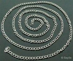 www.sayila.fr - Chaîne en aluminium ± 135cm (maille ± 7x5mm)