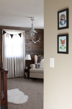 """Rustic woodland nursery... @Emily Kasecamp: I'm thinking """"all creatures great and small"""" theme?"""