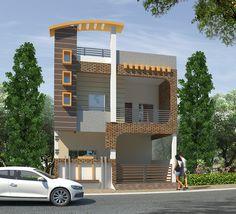 Best 12 Home Design Plan With 3 Bedrooms – Sam Phoas Homesearch – SkillOfKing. Bungalow House Design, House Front Design, Modern House Design, Entrance Design, Facade Design, Exterior Design, Front Elevation Designs, House Elevation, 3d House Plans