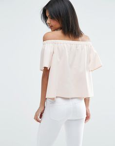 Image 2 of ASOS Tiered Off The Shoulder Top