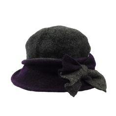 80f04325e44 Two Tone Boiled Wool Little Cloche Beanie Hat by JSA for Women