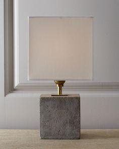 Regina-Andrew Design Concrete Cube Mini Lamp - Horchow