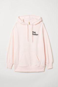 H&M Printed Hooded Sweatshirt - Pink Trendy Outfits, Cute Outfits, Trendy Clothing, Trendy Hoodies, Pink Panthers, Hoodie Outfit, Cute Crochet, Hooded Sweatshirts, My Style