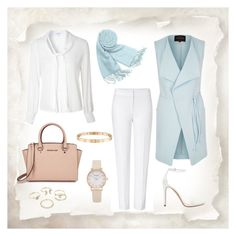 """""""Hijab Chic"""" by selena-styles-ibtissem23 ❤ liked on Polyvore featuring River Island, ESCADA, Zara, Glamorous, Forzieri, Michael Kors, Lipsy and Cartier"""