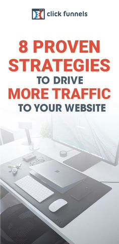With more website traffic comes more generated leads, more sales conversions, and more money. Here, you'll learn 8 proven strategies to drive consistent traffic to your website. Ready to get started? Find out how here! #salesfunnels #clickfunnels #websitetraffic Sales And Marketing, Online Marketing, Social Media Marketing, Business Website, Online Business, Building Software, Seo Strategy, Your Website, Google Ads