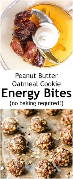 Looking for a healthy snack? Try these healthy NO BAKE energy bites that taste like a scrumptious oatmeal peanut butter cookie. The chia & cacao nibs add nutrition, fiber & protein!