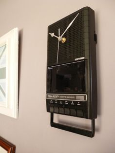 Vintage Cassette Player Wall Clock Unique 1980s Recycled Tape Payer Clock Geek Chic, £49.00