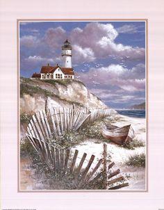 Lighthouse+With+Deserted+Canoe