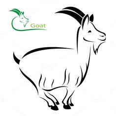 Vector image of an goat on white background Stock Illustration , Illustrator Graphic Styles, Illustration, White Background, Vector Images, Winter Painting, Goat Logo, Art, Goat Art, Animal Line Drawings