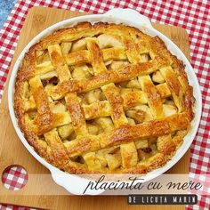 romanian recipe for apple pie – romanian recipe for apple pie – – Famous Last Words Apple Pie Recipes, Greek Recipes, Baby Food Recipes, Food Baby, Gnocchi, Delicious Desserts, Yummy Food, Healthy Cook Books, Romanian Food