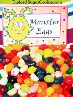 Monster Party-Monster Party Foods-Monster Birthday Parties-Little Monster Birthday-Monster Egg-DIY Monster bash birthday party food label tent cards-DIY by The… Little Monster Birthday, Monster 1st Birthdays, Monster Birthday Parties, First Birthday Parties, Birthday Party Themes, First Birthdays, Birthday Ideas, Monster Party, Monster Food