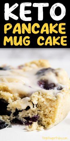 Quick Keto Dessert, Good Keto Snacks, Keto Desserts, Keto Mug Bread, Keto Pancakes, Low Carb Recipes, Snack Recipes, Diet Recipes, Best Keto Breakfast