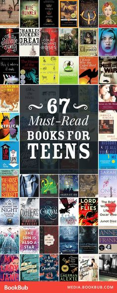 67 must-read books for teens, including popular fantasy, dystopian, and fiction books. These novels would be great for both boys and girls.