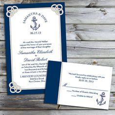 Custom Nautical Knot Wedding Invitations by PuttinOnTheGlitz4U, $3.95