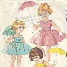 Vintage 1950s McCalls 4985 Sewing Pattern  girls by RebekaVintage, $15.00