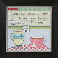 Mill Hill Curly Girl Design Coffee with Friends by DebiCreations