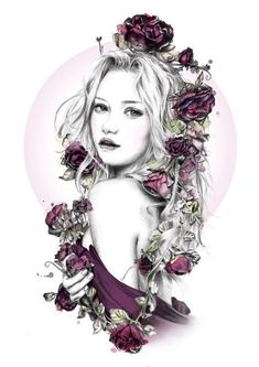 ramblin' rose by Sheryl Young, via Behance