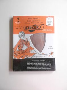 Vintage 1950s Seamed Nylon Stockings New In by looseendsvintage, $28.00