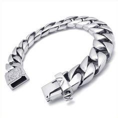 KONOV Jewelry Stainless Steel Men's Heavy Biker Bracelet KONOV Jewelry,http://www.amazon.com/dp/B008AWC9WW/ref=cm_sw_r_pi_dp_wXpPsb0674KF5PJD