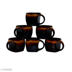 Cups, Mugs & Saucers Tea Cups, Set of 6 Material: Ceramic Pack: Multipack Length: 4 Inch Breadth: 4 Inch Height: 4 Inch Size (in ltrs): 200 ml Country of Origin: India Sizes Available: Free Size   Catalog Rating: ★4.3 (425)  Catalog Name: Fancy Cups Mugs & Saucers CatalogID_1139386 C190-SC2066 Code: 373-7136682-999