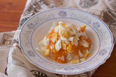 Arroz con tomate y huevo cocido | Comer con poco