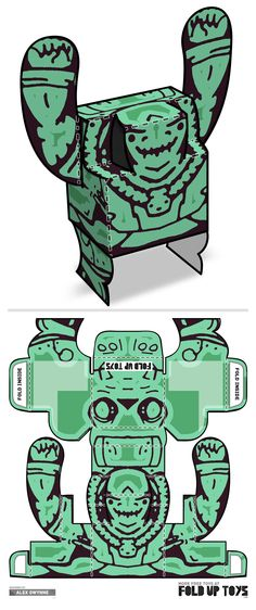 Downloadable paper art toy design by Fold Up Toys - Rorschach #001