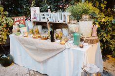 Rincón vermut boda Sevilla / Vermut corner wedding Seville. La boda de Paloma & David. Sevilla, 2 de julio de 2016.