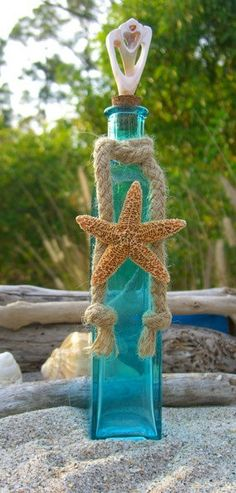 Ocean Sea Starfish:  #Beach bottle.
