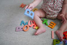 Felt letters - I'm sure it won't be just my little boy playing with these!