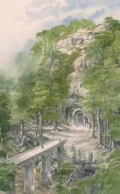 'Beleg Departs Menegroth' by Alan Lee