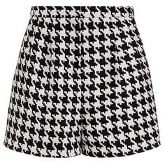 Emma Cook Houndstooth High Waisted Shorts (5,095 PHP) ❤ liked on Polyvore featuring shorts, bottoms, emma cook, highwaisted shorts, zipper shorts, high-waisted shorts and houndstooth shorts