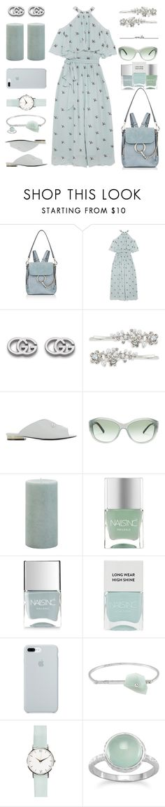 """""""Summer Pastel Mint"""" by rasa-j ❤ liked on Polyvore featuring Chloé, Temperley London, Gucci, Robert Rose, Coliàc Martina Grasselli, Burberry, Pier 1 Imports, Nails Inc., ETUÍ and Acne Studios"""