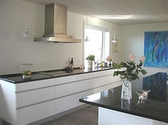 White, modern kitchen.