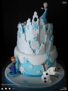 """Frozen"" Birthday Cake via Craftsy"