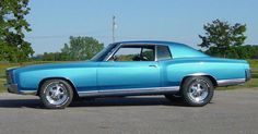 72 Monte Carlo, same year as Nates. Only thing though, its a different color and its a vinyl top, not hard..