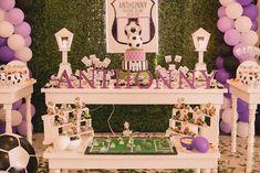 Futebol da festa de aniversário temático com tantas ideias incríveis através Idéias do partido de Kara KarasPartyIdeas.com # soccerparty # esportes # # soccercake sportsparty # # partydecor partyideas (14)