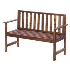 The beautiful brown tone wooded bench will make your garden or patio even more beautiful!  Place this classic bench in your favorite outdoor space to enjoy the sunshine or the shade.