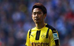 Lataa kuva Shinji Kagawa, 4k, jalkapalloilijat, Bundesliiga, jalkapallo, Borussia Dortmund