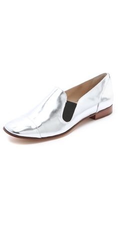 metallic loafers // me gusta