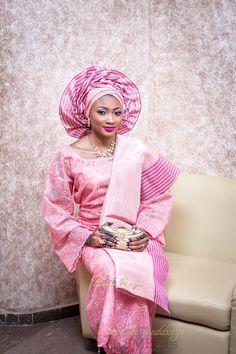 BellaNaija Bride, Amina in Pink Iro and Buba | Amina & Nasir's Muslim Traditional Wedding | Make up by Mimi's Makeover | Photography by BMB Photography