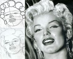 Marilyn Portrait Tutorial  A truly fantastic drawing tutorial to learn how to draw a portrait of Marilyn Monroe with pencil