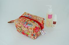 Party Town Ripstop Medium Wash Box Bag  by LottieDeanBags on Etsy
