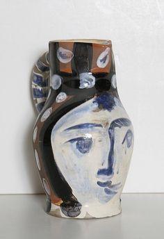 Pablo Picasso, Tete Piente, Turned Ceramic Pitcher