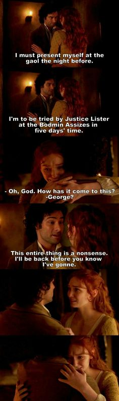 """""""This entire thing is a nonsense. I'll be back before you know I've gone"""" - Ross & Demelza #Poldark"""
