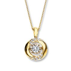 Diamonds in Rhythm 1/5 ct tw Necklace 10K Yellow Gold