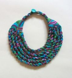 Scraps Of Fabric Into Tribal Necklaces Fabric Jewelry